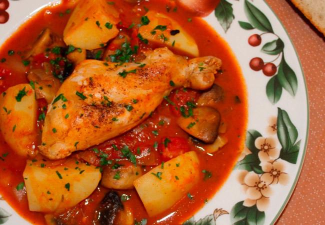 Жаркое домашнее  рецепт с майораном