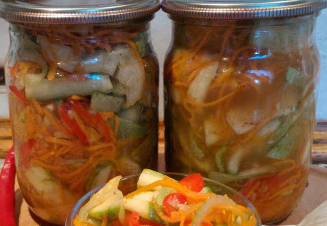 Салат из кабачков в майонезе на зиму пошагово