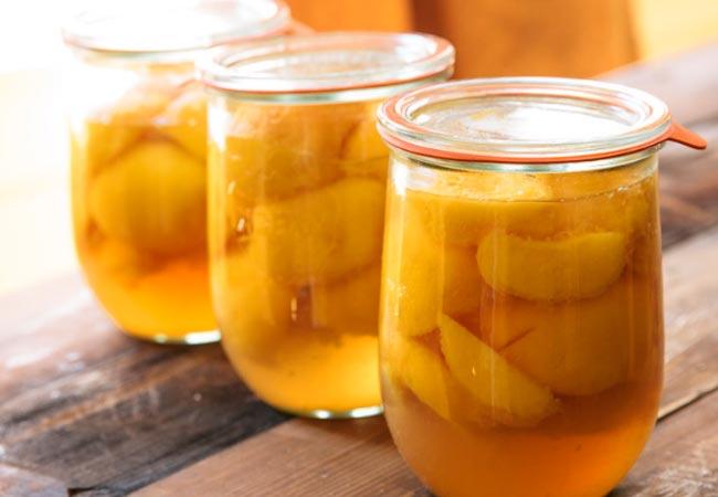 Персики, консервированные по советскому ГОСТу