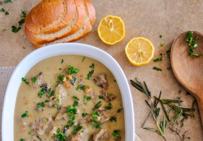 Классический суп из вешенок с картошкой