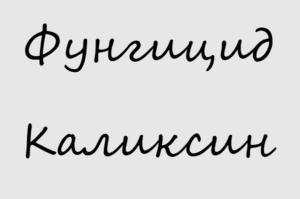Фунгицид Каликсин