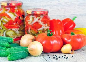 Рецепты овощных салатов на зиму