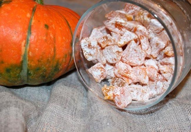 Как приготовить цукаты из тыквы в сушке или духовке