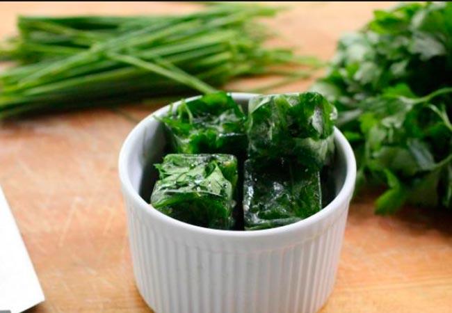 Заморозка бланшированной зелени