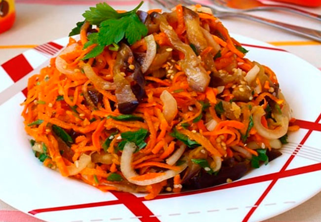 Рецепт вешенок по-корейски с морковью