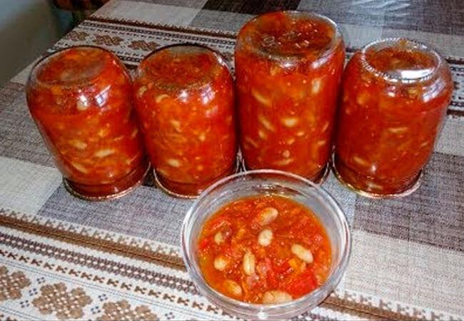 Рецепт консервированной белой фасоли в томатном соусе